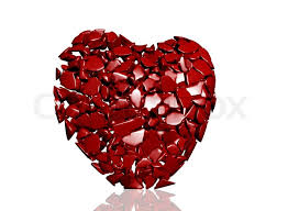 Red Heart in Pieces